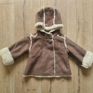 GAP Brown/Beige Faux Shearling Jacket